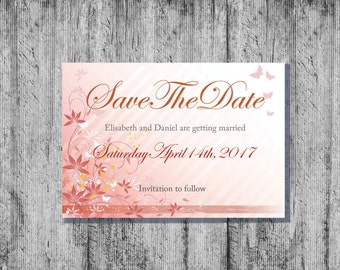 Save The Date Cards, Printable Save The Date Cards, Downloadable Save The Date Cards, DIY Save The Date, Wedding Save The Date,Save The Date
