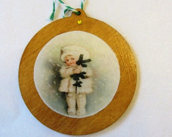 Wood Christmas Ornament Christmas Shop Holiday decoration Christmas gift