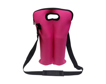 Pink 2 bottle cylinder tote