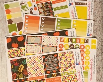 Fall Flowers---- Weekly Planner Kit ---- {Includes 210+ Stickers}
