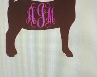 Livestock vinyl decal (goat)