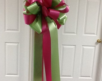 Hot pink & lime Green Party Bow