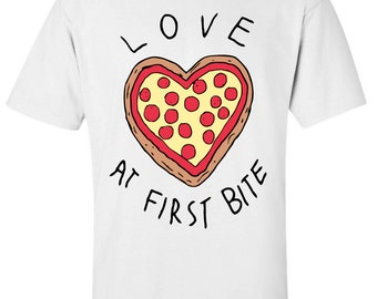 Love At First Bite Pizza T-Shirt