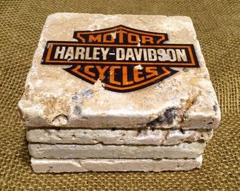 Harley Davidson - Set of 4 Stone Drink Coasters