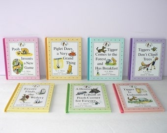 Winnie the Pooh Storybooks Collection Set of 7 / Winnie the Pooh Picture Books / Set of 7 Winnie the Pooh Kid's Books / Vintage Storybooks