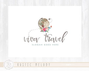 Travel Agency Logo Photography Logo Design Travel Logo Boutique Logo Floral Logo Decor Logo Design Watermark