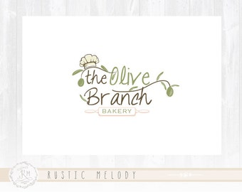 Bakery Logo Design Kitchen Olive Restaurant Good Food Rustic