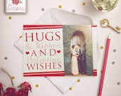 Hugs and Kisses - Valentine's Day Photo Card