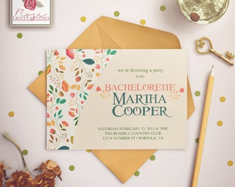 Cute Spring Flowers - Bachelorette Party Invitations