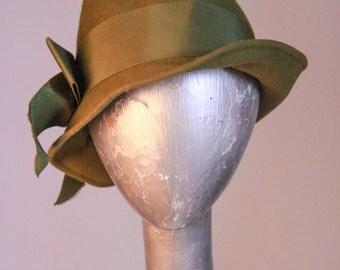 1940s Green Glenover Henry Pollak New York Wool Fedora