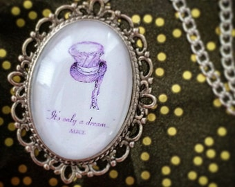 Alice in Wonderland 'It's only a dream' Disney Cameo Necklace