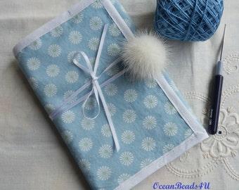 Blue Needle Case Crochet,Knitting Needle Case, Crochet Hooks Organizer, Notions, Makeup Case