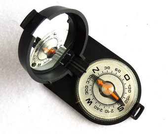 """Soviet Vintage package compass """"Azimuth"""" , Black compass, military compass, made in USSR 80s"""