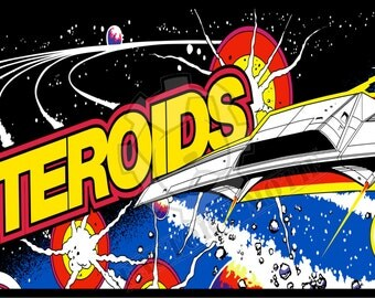 Asteroids arcade marquee metallic photo print