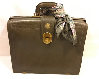 Vintage Brown Leather Briefcase, Vintage Leather Briefcase, Vintage Briefcase