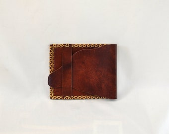 DAFAD Wallet, Unique design, Handmade, Hand stitched, leather wallet.