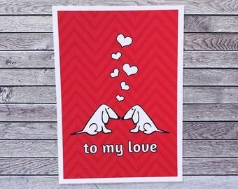 Puppy Dog Love Card / Anniversary