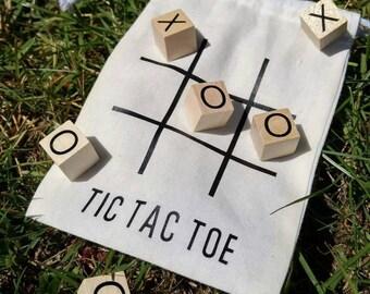 TicTacToe Game, Kids TicTacToe Game. Rustic TicTacToe wedding favors.