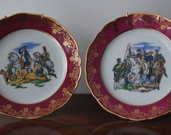 """Limoges Plates Napoleon Made in France 25cm 9.8"""""""