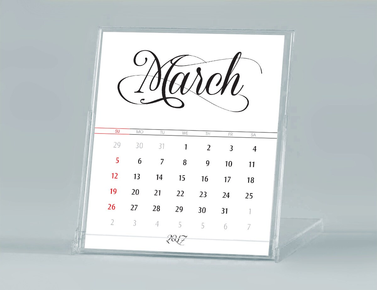 It's just a picture of Priceless Printable Desk Calendars