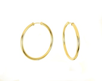 Medium Large 14K Gold Filled Endless Hoop Earrings