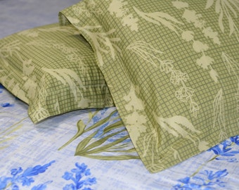 Cotton King Size Bedspread Bedsheet with a pair of matching pillow shams