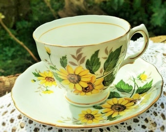 Royal Vale Sunflower Tea Cup and Saucer