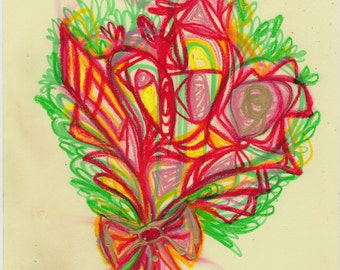 Abstracted Bouquet - Original Abstract Art Print