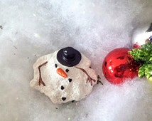 Miniature Melted Snowman