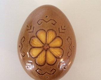 Signed Zilgme ceramic Egg