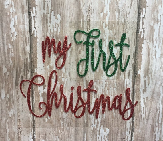 My First Christmas Iron on decal/ Baby's First Christmas iron on decal/DIY Baby's First Christmas outfit