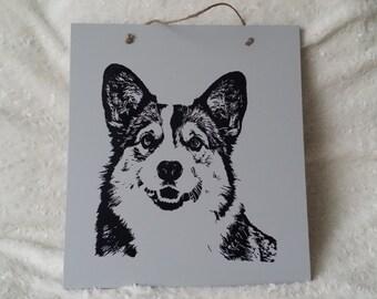 Handmade Decoration Plate Corgi