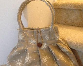 Pleated Hobo Handbag