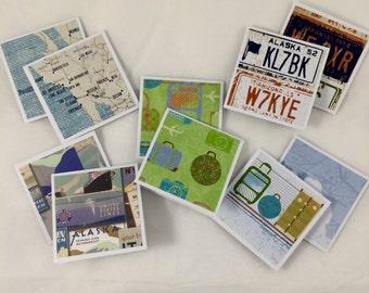 Travel greeting card set (10)