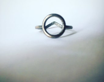 two sides ring (Medium) Circle and triangle.