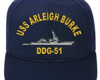 USS Arleigh Burke DDG-51  Ball Cap   Ne