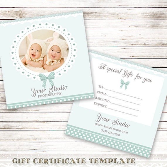 Photography gift certificate template for photographers gift for Photography gift certificate template