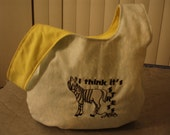 Embroidered Medium Stress Zebra Knot Bag