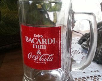 Vintage 1977 Bacardi Rum & Coca Cola Mug