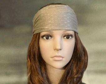 Bohemian headbands, Wide bandana, Boho headbands, Gray bandanna, Gypsy head wrap, Boho clothing, Womens headband, Trendy headbands