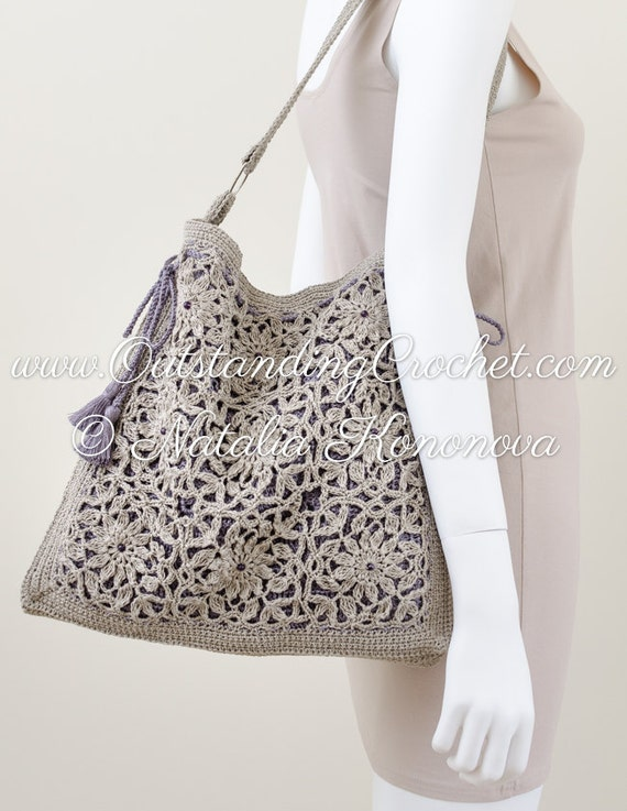 New Crochet Bags : ... Crochet: New crochet pattern in my shop - Square motifs shoulder bag