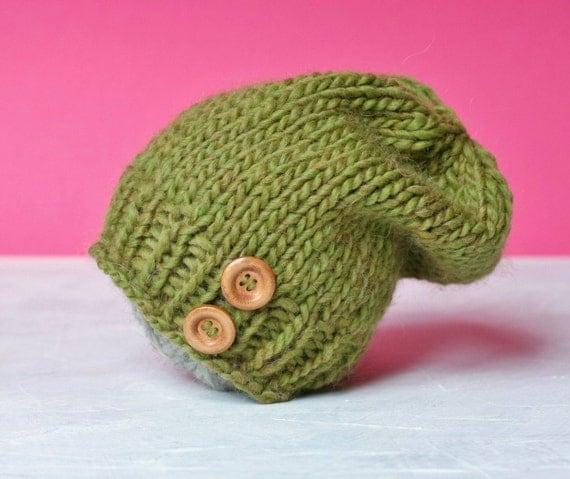 Knitting PATTERN Newborn Baby Slouchy Beanie. by ...