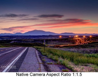 Night Drive: Landscape art photography prints for home or office wall decor.