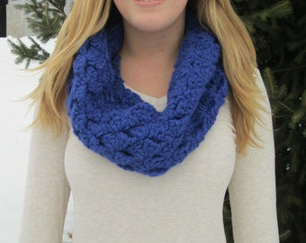 Crotched Wool Infinity Scarf