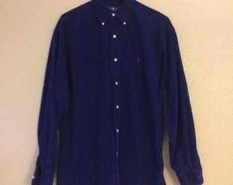 Vintage Corduroy Polo Button Up