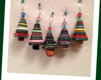 Cute as a Button! - Christmas tree ornaments - choice of colours, no two the same!