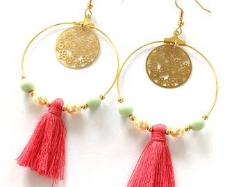 Earrings - gold GALA was