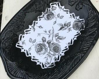 Black decorative tray shabby chic