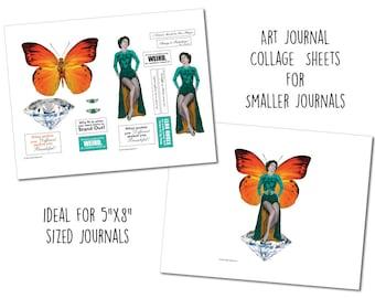 Sml - Be Weird - Art Journal Collage Sheets