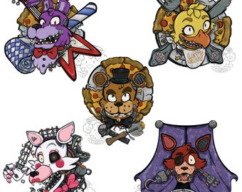 Five Nights at Freddy Stickers